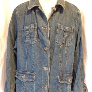 Denim Jacket Size 2X Pockets Charter Club